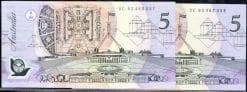 Five Dollar Fraser Evans 1995 Pair