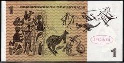 One dollar decimal paper specimen