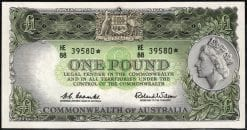 one pound 1961 star australian