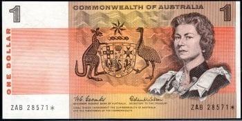 1$ OBVERSE Decimal Paper star