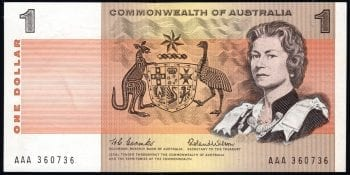 One Dollar Decimal Paper AAA PAIR R71A