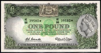 One Pound Coombs Wilson Decimal Star 1961