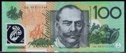 100 polymer fraser evens banknote