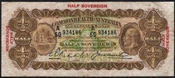 1927 Half Sovereign Riddle Heathershaw Fine R006