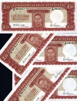 1942 Ten Pound Armitage McFarlane Run of 5