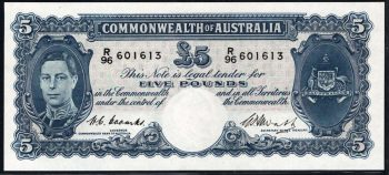 1949 Five Pound Coombs Watt R047