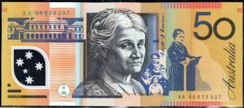 AA98623597 50 dollar Aust Poly