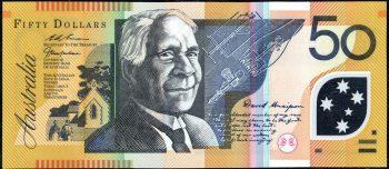 AA98623597 50 dollar Aust Poly rev