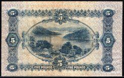 australian pre decimal 5 pound 1916 back
