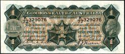 one pound australian pre decimal 1916