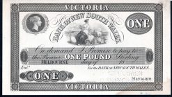 BANK OF NSW 1853 OBVERSE ONE POUND