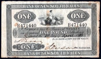 BANK OF NSW OP GENERAL ISSUE OBVERSE