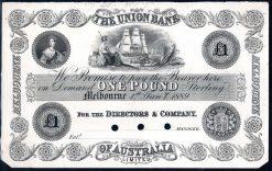 Union Bank 1889 obv