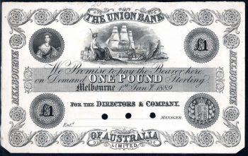 Union Bank 1889 obv