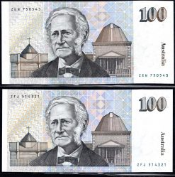$100 ERROR NOTE FRASER HIGGINS OBVERSE