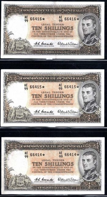 10s Set 3 Star Notes Obverse