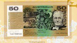 1996 $5 Note Fraser//Evans BA96 1st Prefix R217bF Uncirculated
