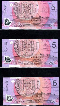 R217ai 5 DOLLAR LOW ORIENTATION BANDS OBVERSE