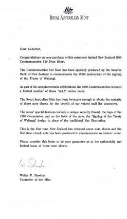 RAM NZ UNCUT BLOCK 16 AAA 1990