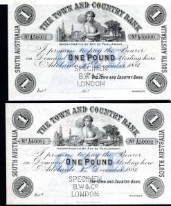 Australia 1 pound 1866 Melbourne UNC Reproduction