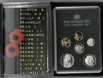 1995 Proof Coin Set 50th Anniversary End WW2 Inside