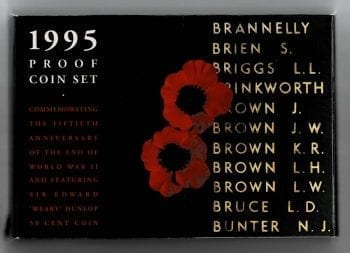 19951995 Proof Coin Set 50th Anniversary End WW2 Main Proof Coin Set 50th Anniversary End WW2 Main
