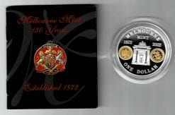 2002 $1 commemorating 130th Anniversary Melbourne Mint Coin