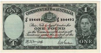 One Pound Armitage McFarlane J0 394492 Obverse