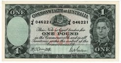 One Pound Armitage McFarlane J4 046221 Obverse