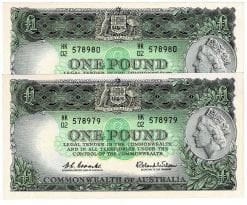 One Pound CW Pair HK02 578979-80 Obverse