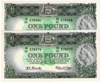 One Pound CW Pair HK02 578979-80 Obverse