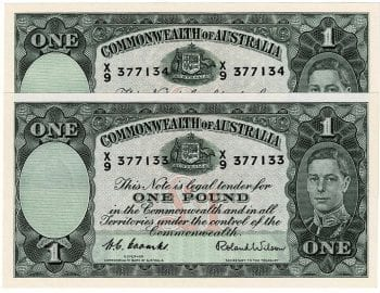 One Pound CW Pair X9 377133-34 Obverse