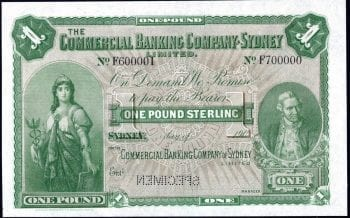 CBC of Sydney One Pound 1901