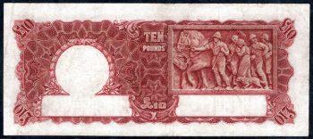 Ten Pound V9317961 back