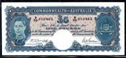 R39 510462 Five Pounds Australia