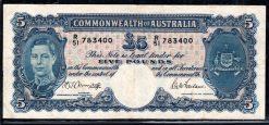 R51 783 400 Five Pounds Australia